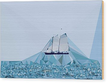 Schooner, Abstracted Wood Print by Sandy Taylor