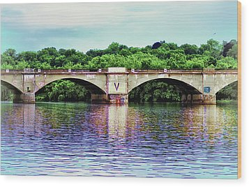 Schuylkill River Wood Print by Bill Cannon