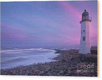 Scituate Sunset  Wood Print by Susan Cole Kelly
