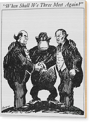Scopes Trial Cartoon 1925 Wood Print by Granger