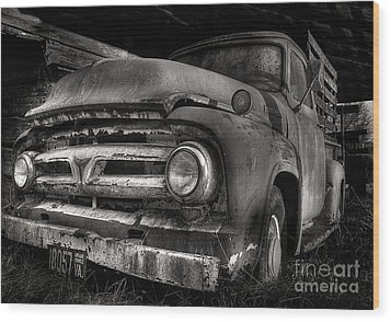 Scotopic Vision 6 - 53 Ford Wood Print by Pete Hellmann