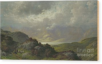 Scottish Landscape Wood Print by Gustave Dore