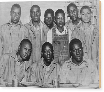 Scottsboro Boys In Jefferson County Wood Print by Everett