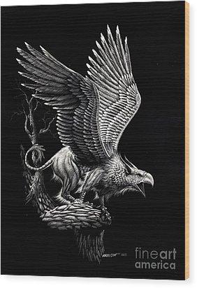Screaming Griffon Wood Print by Stanley Morrison
