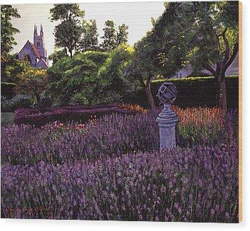 Sculpture Garden Wood Print by David Lloyd Glover