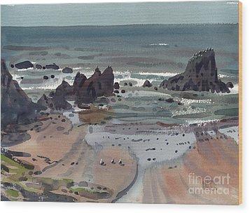 Seal Rock Oregon Wood Print by Donald Maier