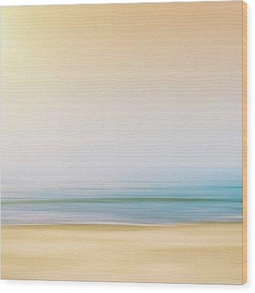Seashore Wood Print by Wim Lanclus
