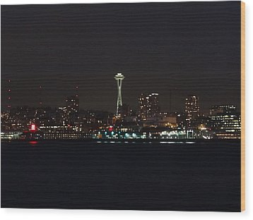 Seattle City Lights Wood Print by Kyle Wood
