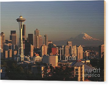 Seattle Equinox Wood Print by Winston Rockwell