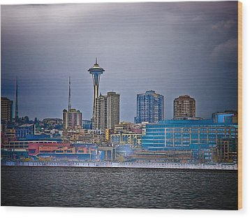 Seattle Wood Print by Jim DeLillo