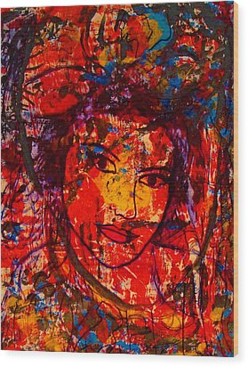 Self-portrait-5 Wood Print by Natalie Holland