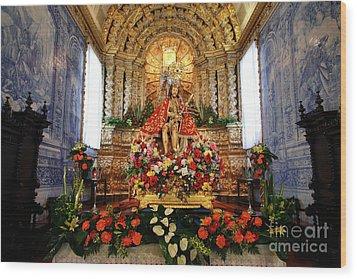Senhor Bom Jesus Da Pedra Wood Print by Gaspar Avila