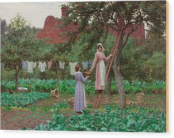 September Wood Print by Edmund Blair Leighton