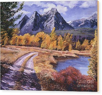 September High Country Wood Print by David Lloyd Glover
