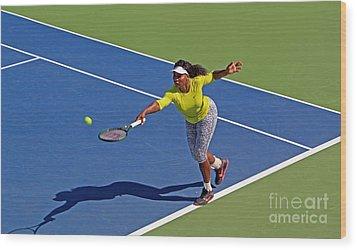 Serena Williams 1 Wood Print by Nishanth Gopinathan