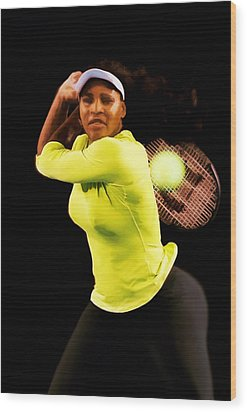Serena Williams Bamm Wood Print by Brian Reaves