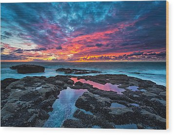 Serene Sunset Wood Print by Robert Bynum