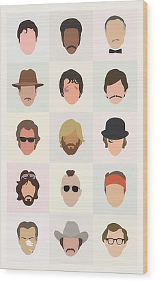 Seventies Movie Dudes Wood Print by Mitch Frey