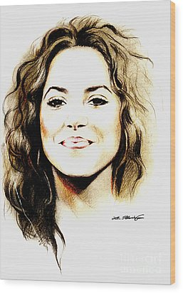 Shakira Wood Print by Lin Petershagen