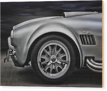Shelby Cobra Gt Wood Print by Douglas Pittman