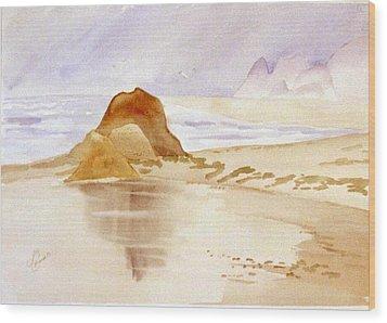 Shining Sands Wood Print by Leo Chiantelli