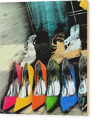 Shoes Wood Print by Gary Everson