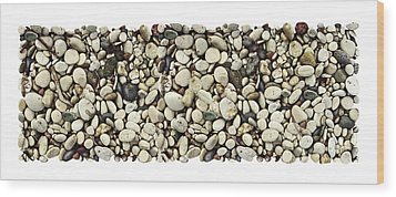 Shore Stones 3 Wood Print by JQ Licensing