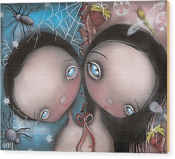 Siamese Twins Wood Print by  Abril Andrade Griffith
