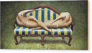 Siamese Twins Wood Print by Lolita Bronzini