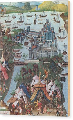 Siege Of Constantinople, 1453 Wood Print by Photo Researchers