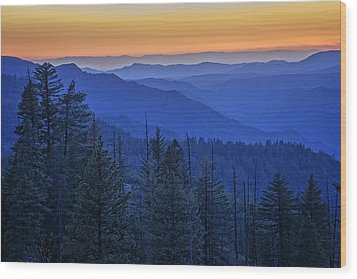 Sierra Fire Wood Print by Rick Berk