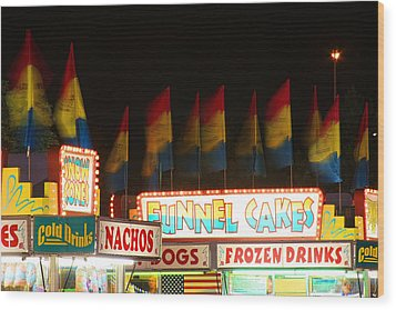 Signs Of Food At The Carnival Wood Print by James BO  Insogna
