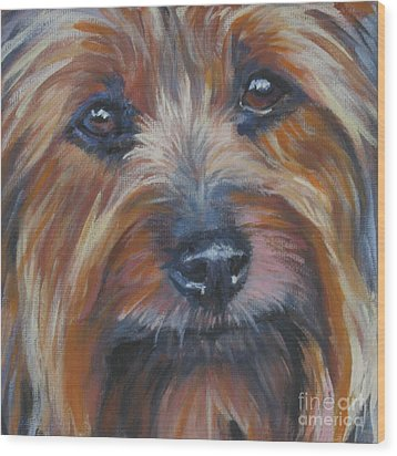 Silky Terrier Wood Print by Lee Ann Shepard