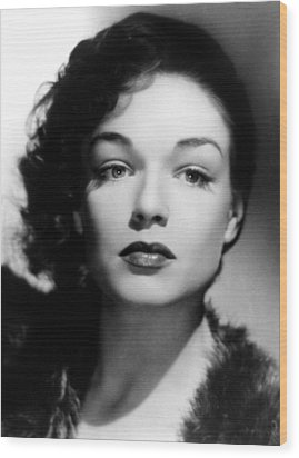 Simone Signoret, C. 1940s Wood Print by Everett