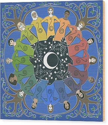 Sister Circle Wood Print by Karen MacKenzie
