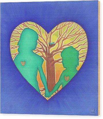 Sisters Wood Print by Lisa Kretchman