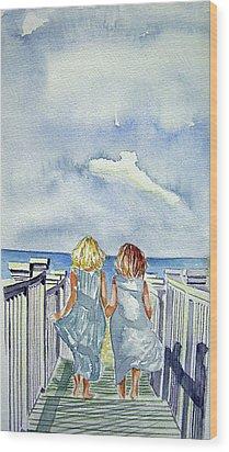 Sisters Wood Print by Paul SANDILANDS
