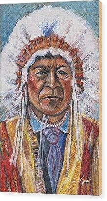 Sitting Bull Wood Print by John Keaton