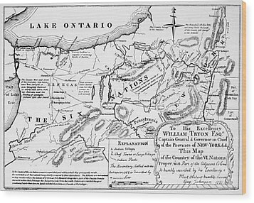 Six Nations Map 1771 Wood Print by Granger