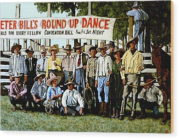 Skeeter Bill's Round Up Wood Print by Tom Roderick