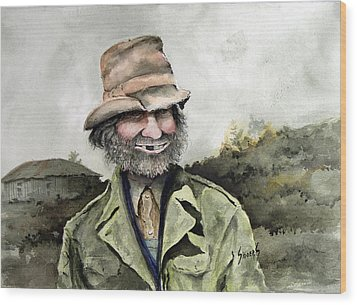 Skinny Benny Wood Print by Sam Sidders