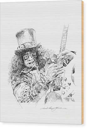 Slash Wood Print by David Lloyd Glover