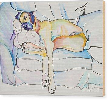 Sleeping Beauty Wood Print by Pat Saunders-White