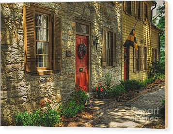 Small Town Usa Wood Print by Lois Bryan
