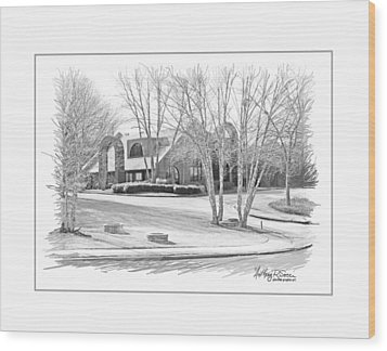 Snellville Police Station Wood Print by Anthony R Socci