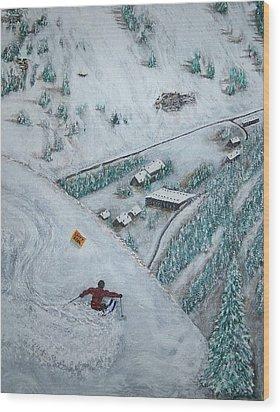 Snowbird Steeps Wood Print by Michael Cuozzo