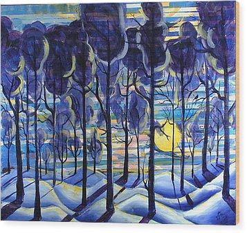 Solitude Wood Print by Rollin Kocsis
