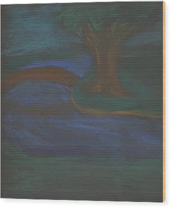 Somewhere At Night Wood Print by Alexandra Mallory