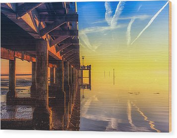 Wood Print featuring the photograph Somewhere Else by Thierry Bouriat