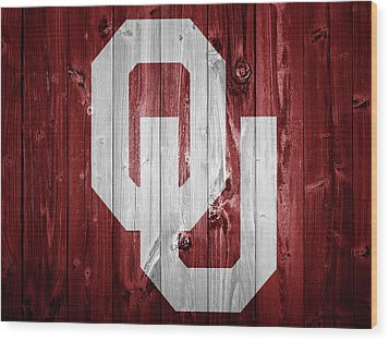 Sooners Barn Door Wood Print by Dan Sproul